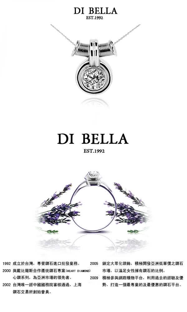 【DI BELLA】閃亮 GIA/0.30克拉/F/VS2美鑽墜鍊