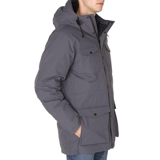 【Levis】男款DOWN SUTRO PARKA 羽絨連帽外套 灰色