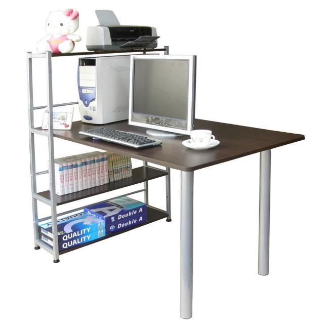 【美佳居】80X120公分寬-4層置物架型-電腦桌-工作桌(三色可選)