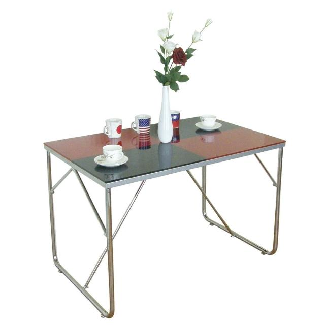 【美佳居】110x70(雙彩強化玻璃)餐桌-會議桌-洽談桌