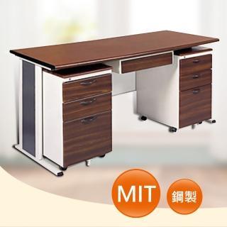 【時尚屋】150CM 胡桃木紋色辦公桌櫃組(254-5)