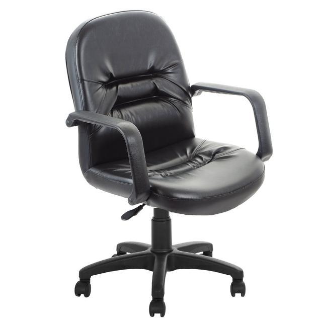 【吉加吉】短背 經典皮椅 電腦椅 TW-1003(黑色)
