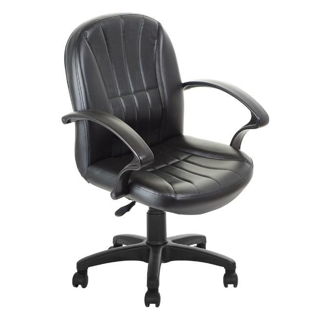 【吉加吉】短背藍球紋 皮椅 電腦椅 TW-1011(黑色)
