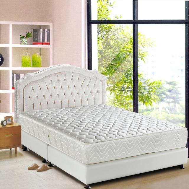 【睡芝寶-完美備長碳矽膠+3M防潑水-蜂巢式獨立筒床墊-加大】