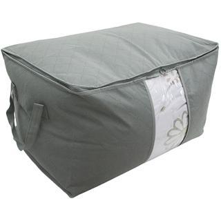 竹炭加高型棉被衣物收納整理袋130L(竹炭色)