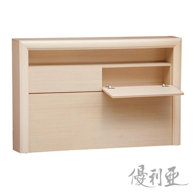 【優利亞-羅拉燈箱型】雙人5尺床頭箱(2色可選)