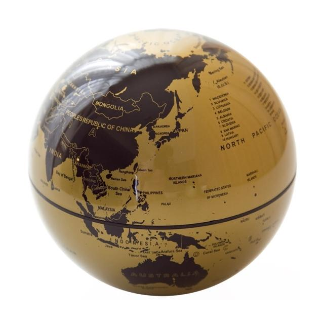 【賽先生科學】自轉地球儀(金黑)