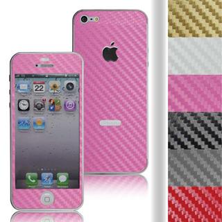 【ZIYA】iPhone 5 時尚碳纖螢幕機身保護貼(含機身邊條)
