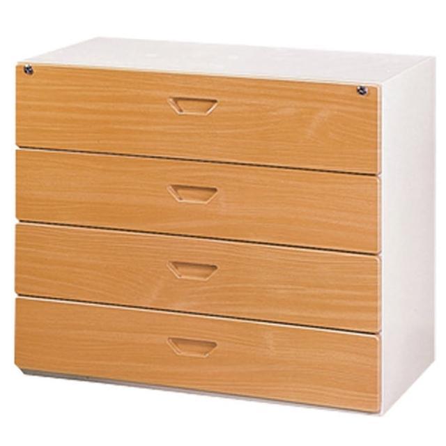 【時尚屋】四層抽屜式鋼木櫃兩色可選(木紋色Y107-7、胡桃色Y110-10)