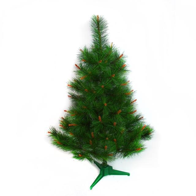 【聖誕裝飾品特賣】台灣製3呎-3尺(90cm特級綠色松針葉聖誕樹裸樹-不含飾品不含燈)