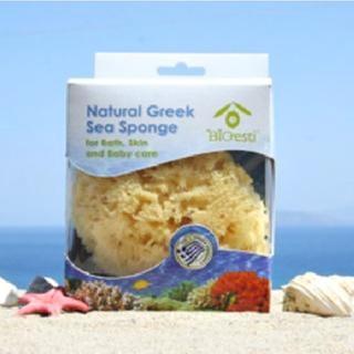 【希臘BIOESTI】地中海天然海綿 洗臉卸妝用(3-3.5吋加送100克橄欖皂)