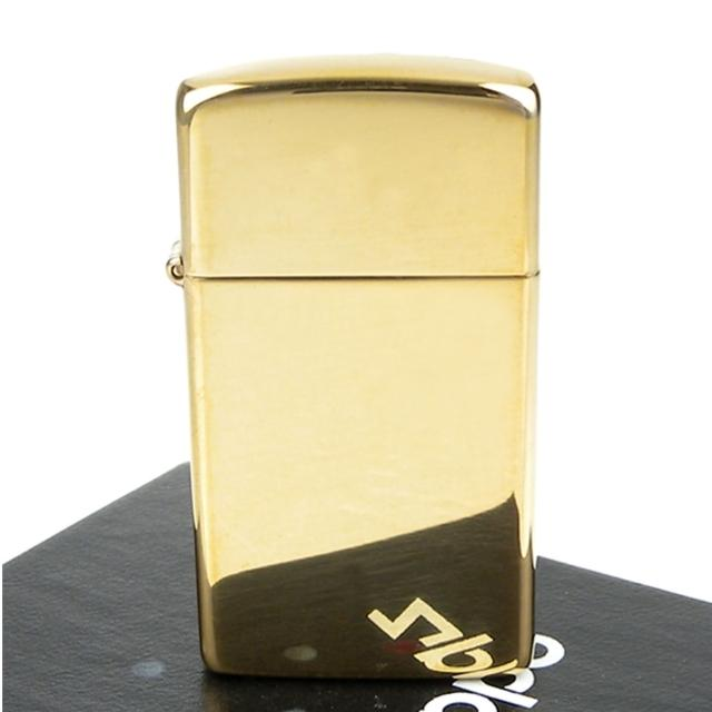 【ZIPPO】美系-Solid Brass-純銅高磨光金色鏡面打火機(窄版)