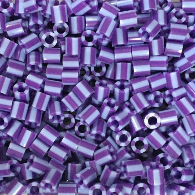【Perler 拼拼豆豆】1000顆單色補充包-110葡萄條紋(特殊色)