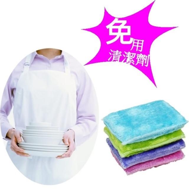 【台灣芳潔嚴選】加大尺寸木纖洗碗布-抗油魔術洗潔布x36入(四色隨機出貨)