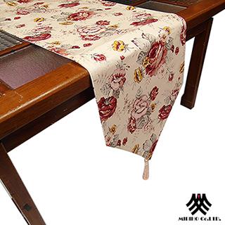 【M.B.H─玫瑰花園】純棉防潑水桌旗(米33x180cm)