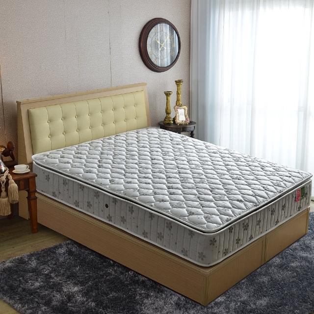 【睡芝寶】正三線乳膠-竹碳紗-蜂巢獨立筒床墊(雙人5尺)