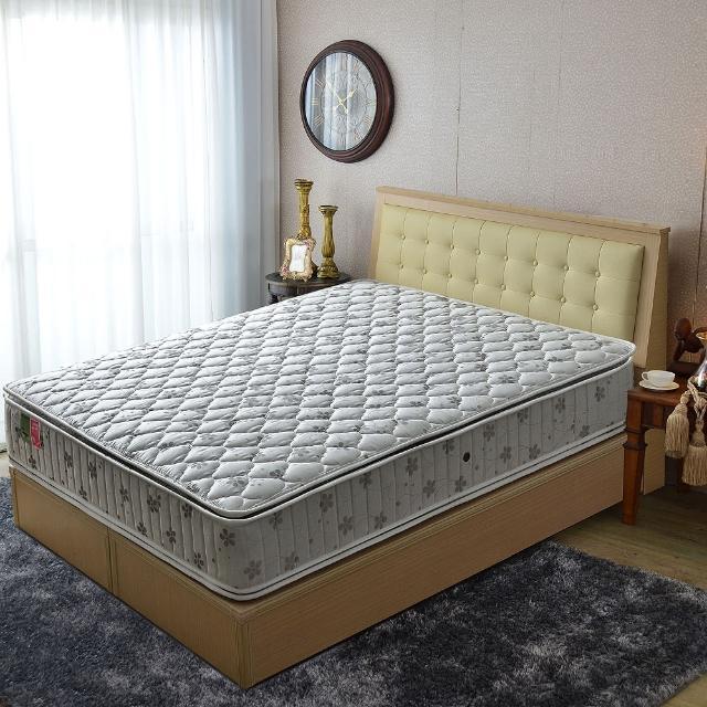 【睡芝寶】正四線竹碳紗-護邊-蜂巢獨立筒床墊(雙人加大6尺)
