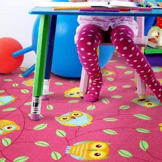 【范登伯格】森林童話★可愛貓頭鷹地毯-三色(100x150cm)