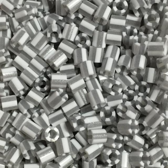 【Perler 拼拼豆豆】1000顆單色補充包-144銀白條紋(特殊色)