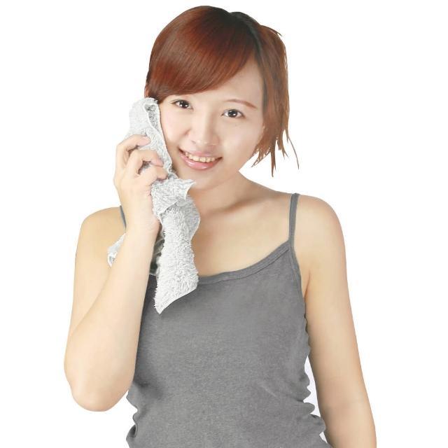 【源之氣】竹炭極超細纖維柔軟小方巾30-32cm-6入 RM-10017