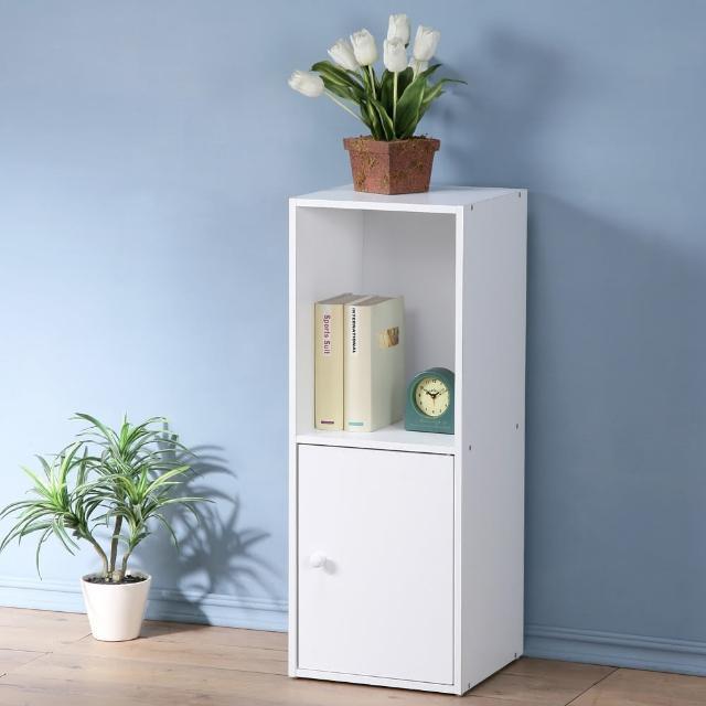 【Homelike】現代風二格單門置物櫃(三色)