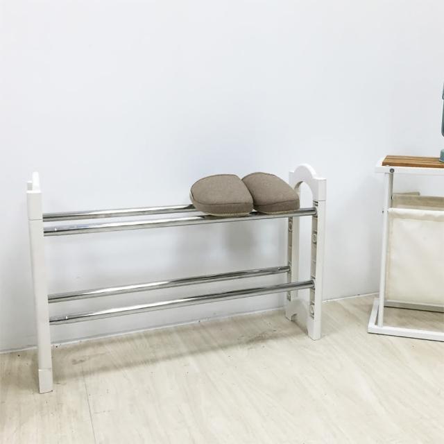 【ikloo宜酷屋】日系可疊伸縮鞋架(1入)