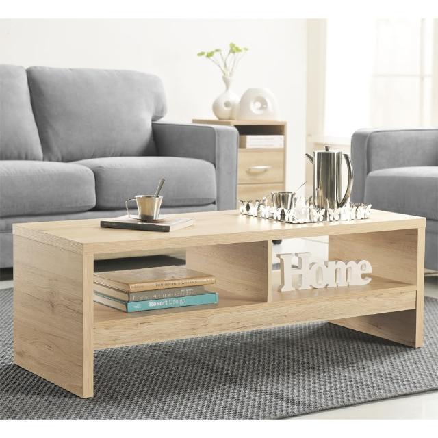 【FUN生活】DIY經典設計優雅大茶几桌-邊桌(淺橡色)