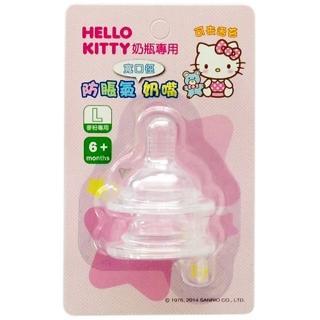 【HELLO KITTY】防脹氣奶嘴寬口徑(2入)