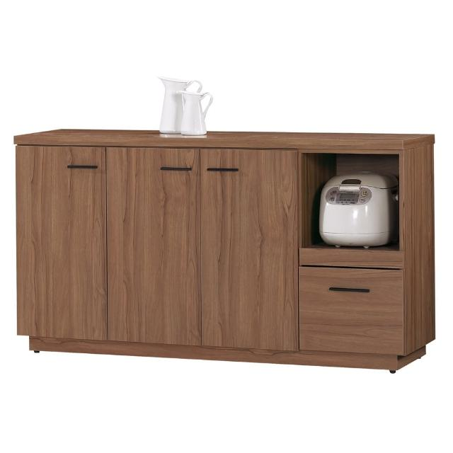 【顛覆設計】堤比5尺柚木色餐櫃下座