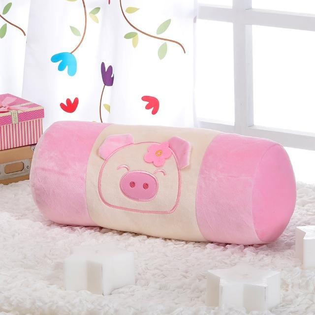 【星辰】專利迷彩小豬圓柱枕(兩色)