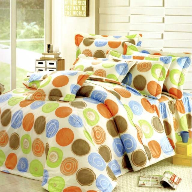 【艾莉絲-貝倫】圓夢計畫(3.5呎x6.2呎)二件式單人(100%純棉)枕套床包組(青綠色)