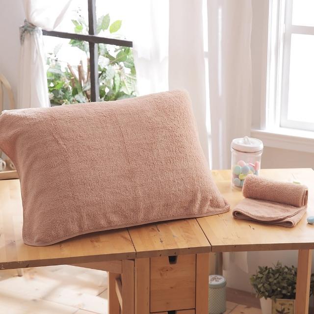 【HO KANG】抗菌防蹣枕巾(咖啡色 2入)