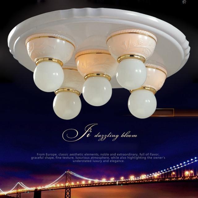 【光的魔法師 Magic Light】安卡拉吸頂五燈 粉白色可使用LED燈泡(燈泡請另選購)