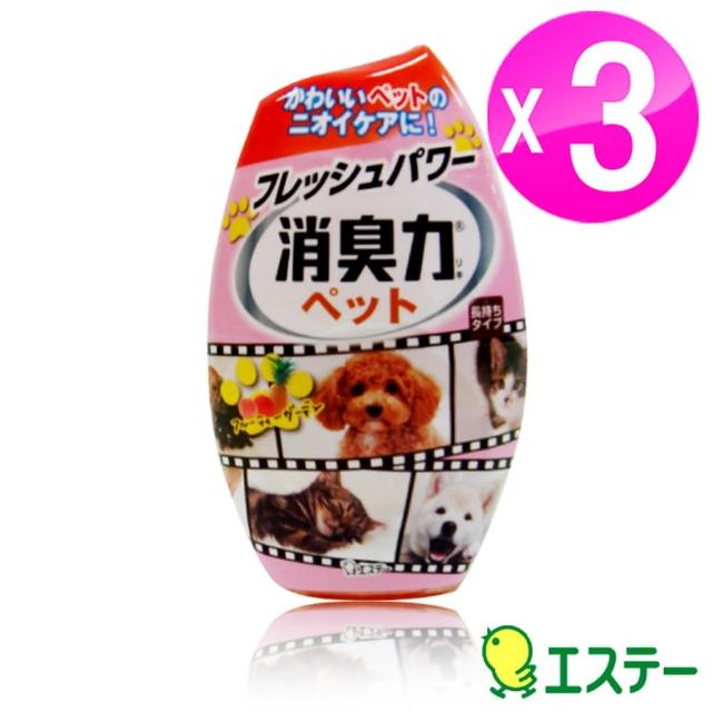 【ST雞仔牌】部屋消臭力居家消臭-花香去除寵物異味400ml(ST-121328 3入組)