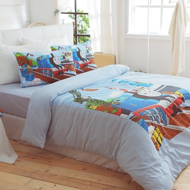 【HO KANG】通授權 單人三件式床包被套組(WA港口)