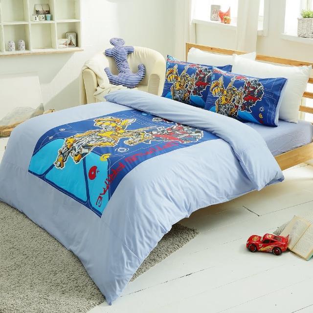 【HO KANG】卡通授權 雙人四件式床包被套組(TF勇氣)
