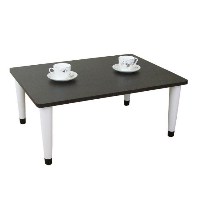 【美佳居】寬80x深60-公分-和室桌-休閒桌-矮桌-深胡桃木色(三款腳座可選)