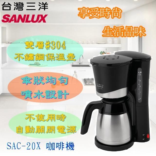 【台灣三洋 SANLUX】1.2L美式咖啡機(SAC-20X)