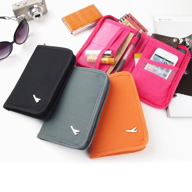 【JIDA】多功能旅行收納護照包_短版