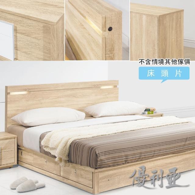【優利亞-朵莉絲燈光】單人3.5尺床頭片
