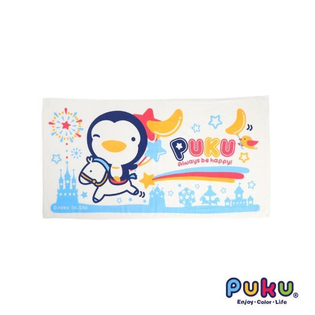 【PUKU藍色企鵝】PUKU長方浴巾-60-114cm(水色)