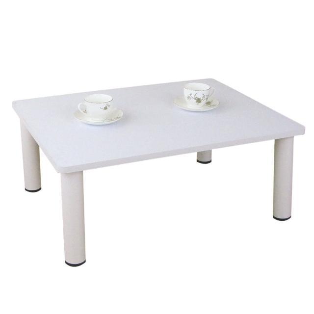 【美佳居】寬80x深60-公分-和室桌-休閒桌-矮桌-素雅白色(三款腳座可選)