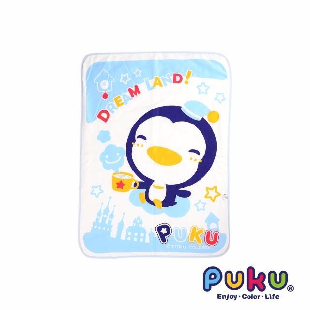 【PUKU藍色企鵝】兒童涼被-90-120cm(水色)