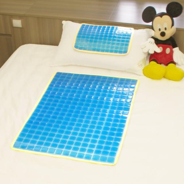 【Seraphic】冰涼Q彈果凍凝膠床墊-座墊-枕墊(大+小雙面冷暖兩用)