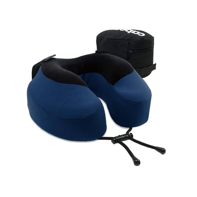 【CABEAU】旅行用記憶頸枕-藍色(收納袋款式隨機出貨)