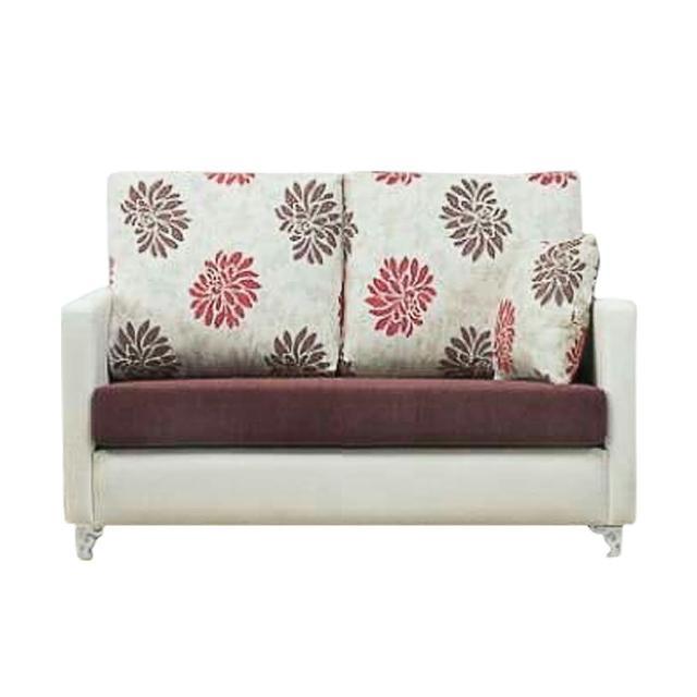 【Bernice】羅莎琳珠光皮雙人座沙發(送抱枕)
