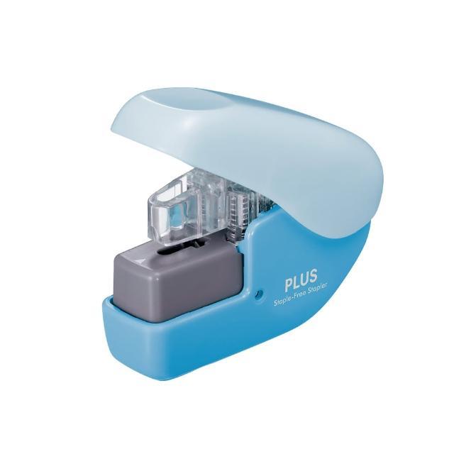 【普樂士PLUS】無針釘書機SL-104NB-藍色