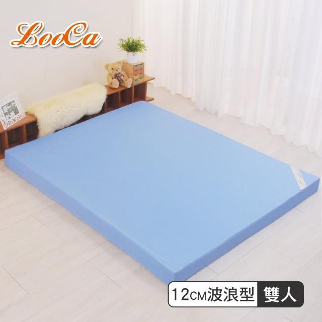 【LooCa】花焰超透氣12cm釋壓記憶床墊(雙人5尺)