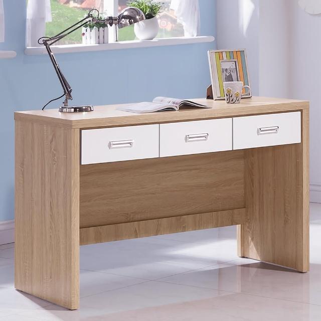 【時尚屋】辛迪佳橡木白4尺書桌(G17-A222-4)