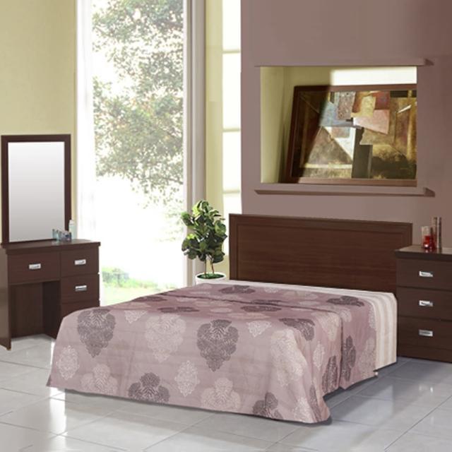 【樂和居】畢斯特五件式3.5尺單人房間組2色可選(床片+床底+床墊+鏡台+床頭櫃)
